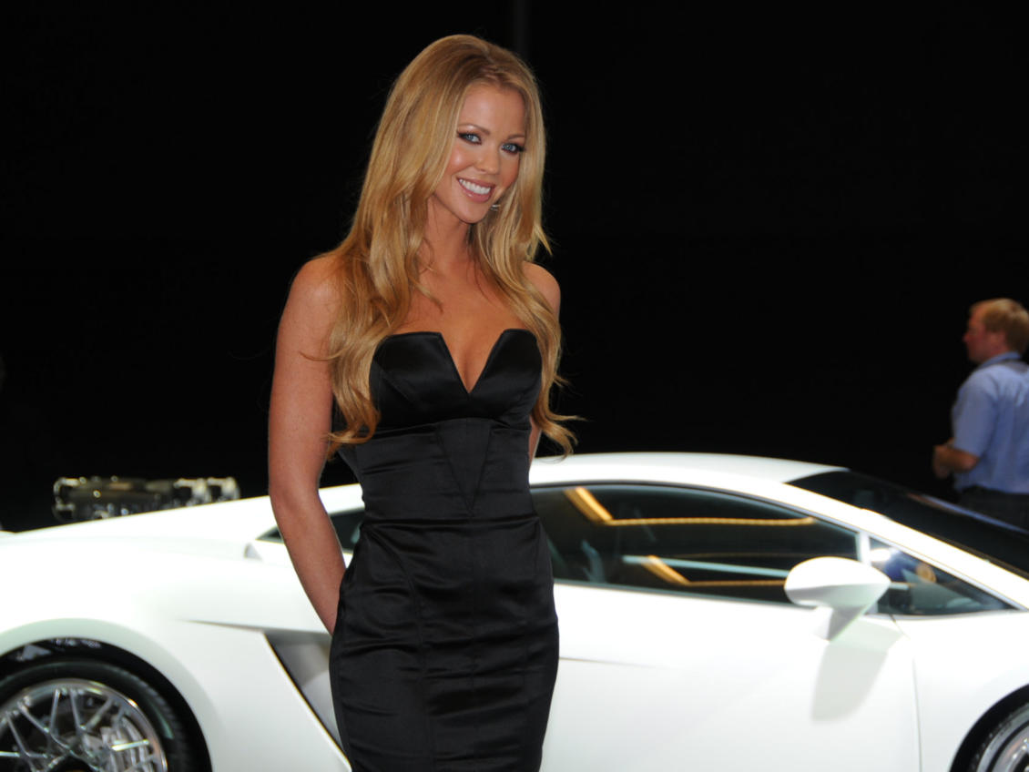 LA Auto Show Model at the Lamborghini Display. Photo by Phil White
